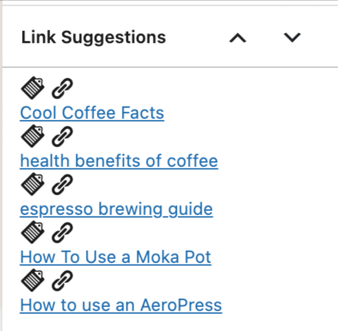 rank math link suggestions